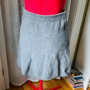 Gray sweater skirt with side zipper from Tahari